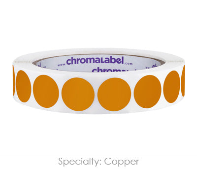 "0.75"" Copper Color Coding Labels"