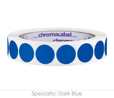 "0.75"" Dark Blue Color Coding Labels"