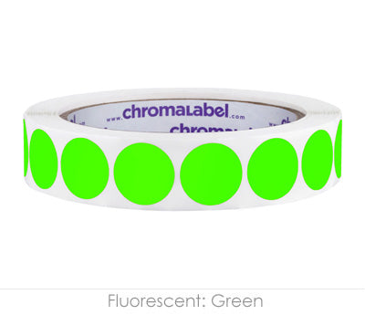 "0.75"" Neon Green Color Coding Labels"