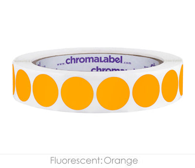 "0.75"" Neon Orange Color Coding Labels"