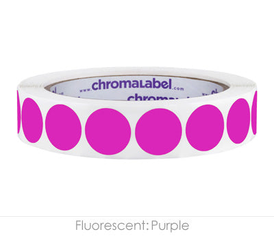 "0.75"" Neon Purple Color Coding Labels"