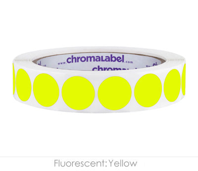 "0.75"" Neon Yellow Color Coding Labels"