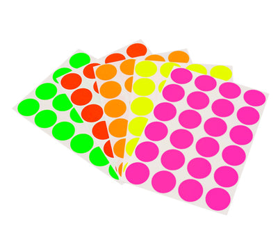 "0.75"" Sheeted Neon Dot Stickers"