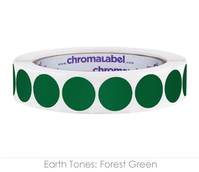"0.75"" Forest Green Color Coding Labels"