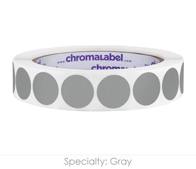 "0.75"" Gray Color Coding Labels"