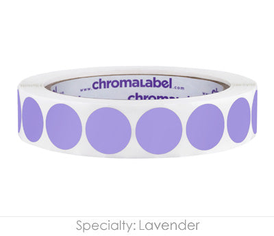 "0.75"" Lavender Color Coding Labels"