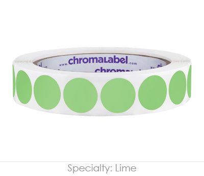 "0.75"" Lime Color Coding Labels"