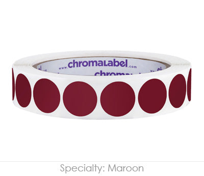 "0.75"" Maroon Color Coding Labels"