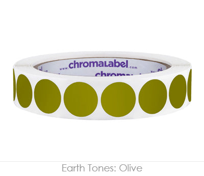 "0.75"" Olive Color Coding Labels"