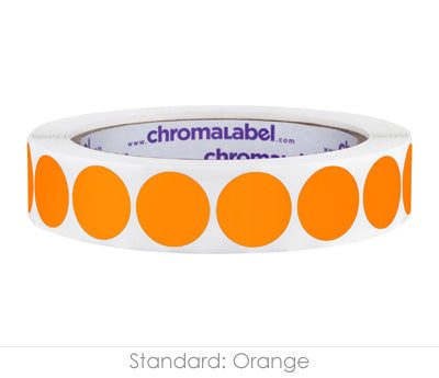 "0.75"" Orange Color Coding Labels"