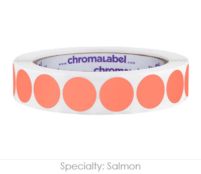 "0.75"" Salmon Color Coding Labels"