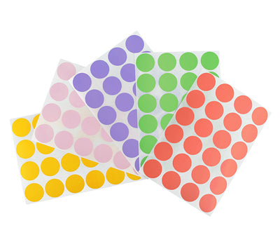 "0.75"" Pastel Colored Dot Stickers"