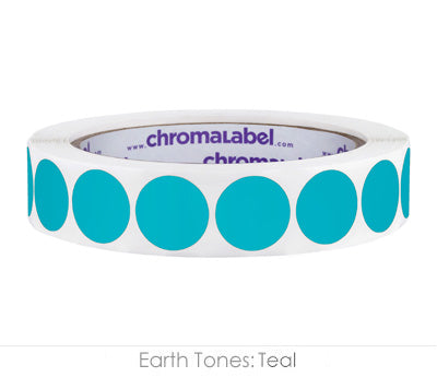 "0.75"" Teal Color Coding Labels"