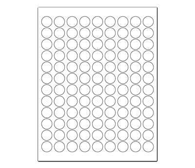 3/4 Printable Round Labels: 2,700/Pack