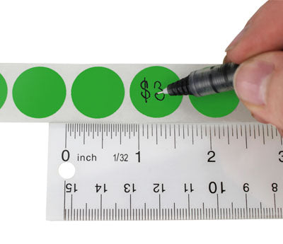 "Writable 0.75"" Colored Circle Labels"