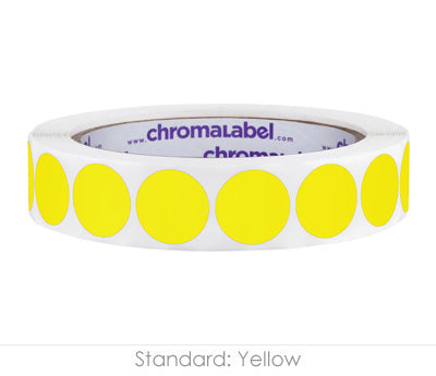 "0.75"" Yellow Color Coding Labels"