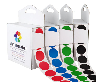 "0.75"" Color Coding Round Stickers"
