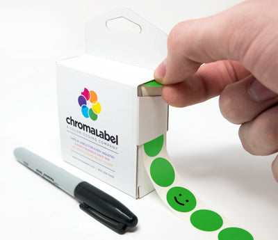 "Writable 0.75"" Colored Dots"