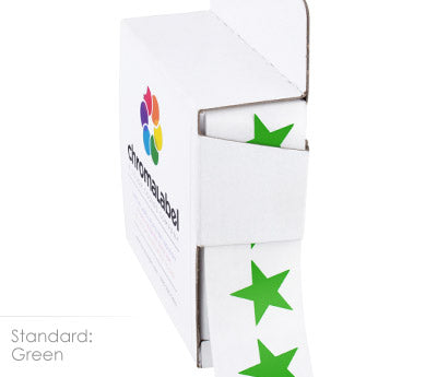 "0.75"" Green Star Stickers"