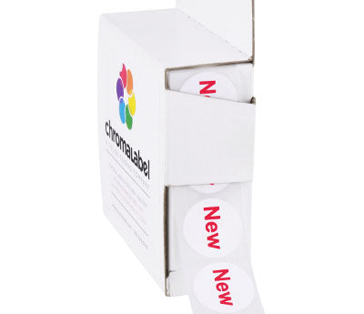 3/4 Round NEW Labels | Removable Adhesive: 1,000/Box