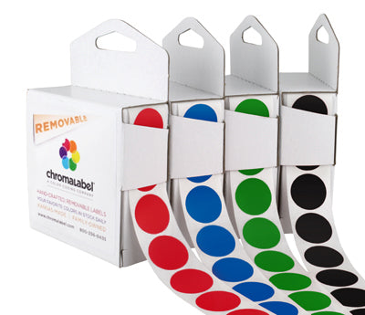 3/4 Removable, Color-Code Dots: 1,000/Box