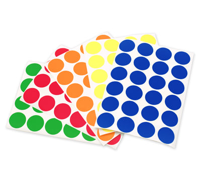 "0.75"" Primary Colors Dots Variety Kit"