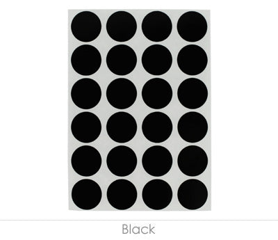 "0.75"" Black Sheeted Removable Dots"