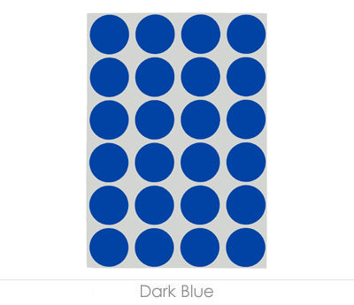 "0.75"" Dark Blue Sheeted Removable Dots"