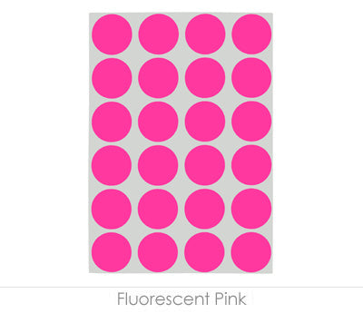 "0.75"" Fluorescent Pink Sheeted Removable Dots"