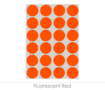 "0.75"" Fluorescent Red Sheeted Removable Dots"