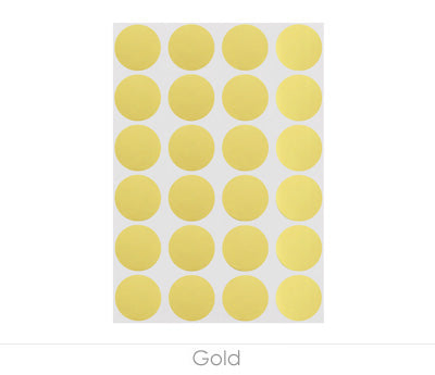 "0.75"" Gold Sheeted Removable Dots"