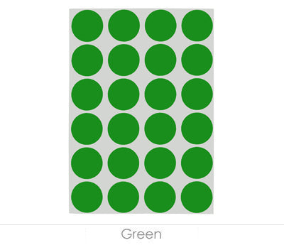 "0.75"" Green Sheeted Removable Dots"