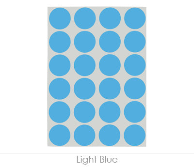 "0.75"" Blue Sheeted Removable Dots"