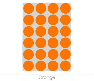 "0.75"" Orange Sheeted Removable Dots"