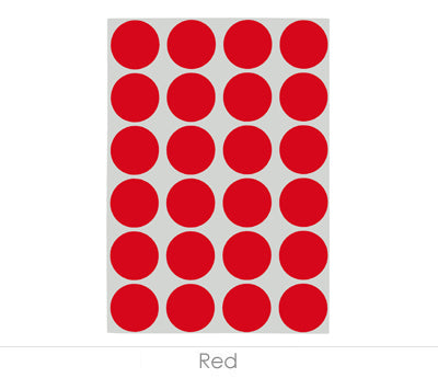 "0.75"" Red Sheeted Removable Dots"