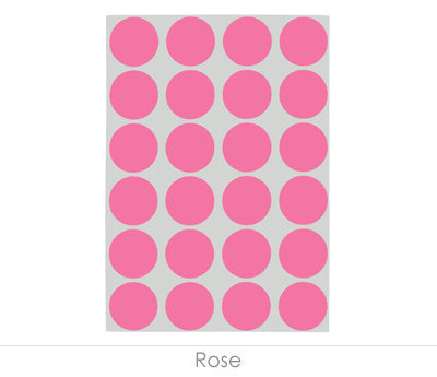 "0.75"" Rose Sheeted Removable Dots"