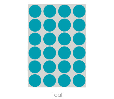 "0.75"" Teal Sheeted Removable Dots"