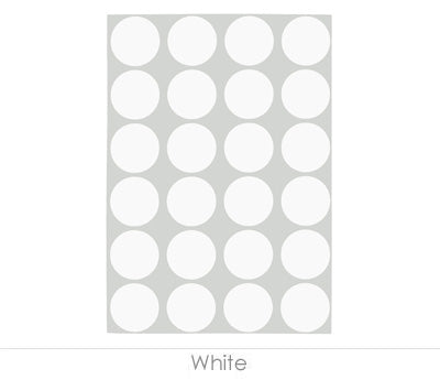 "0.75"" White Sheeted Removable Dots"