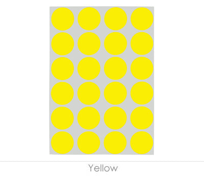 "0.75"" Yellow Sheeted Removable Dots"