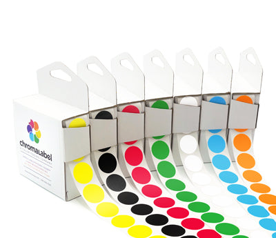 1140 Labels Chromalabel.com 38 Assorted Colours of 1//4 Colour-Coding Sticker Dots,The 38 Collection