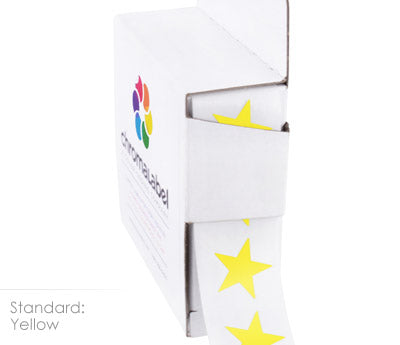 "0.75"" Yellow Star Stickers"
