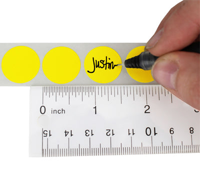 "0.75"" Writable Round Color Code Labels"