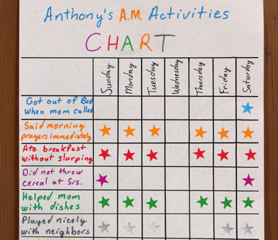 "Activity Chart with 0.375"" Stars"