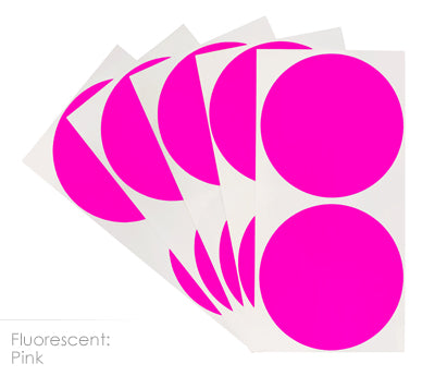 3 inch FLO Pink Removable Color Coding Stickers on Sheeted Liners
