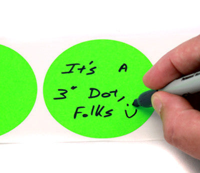 "3"" Writable Color Code Labels"