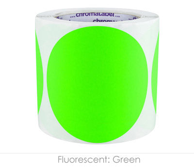 "4"" Neon Green Inventory Organizing Labels"