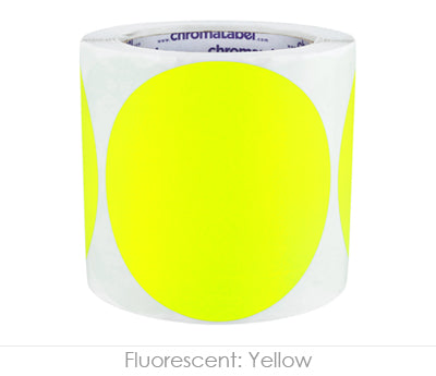 "4"" Neon Yellow Inventory Organizing Labels"