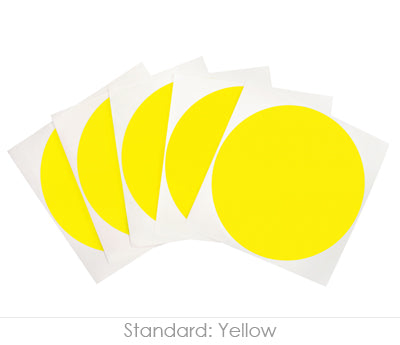 4 inch Yellow Removable Stickers on a Liner