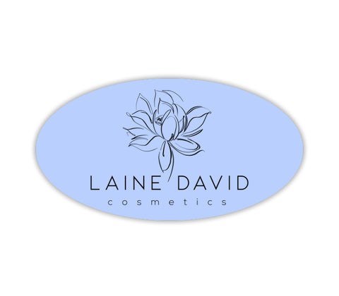 Custom Label, Clear Oval 1x2""
