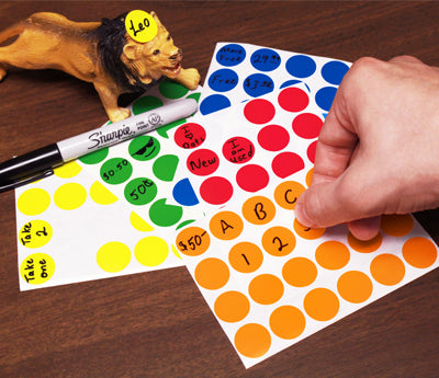 "0.75"" Writable Color Code Stickers"